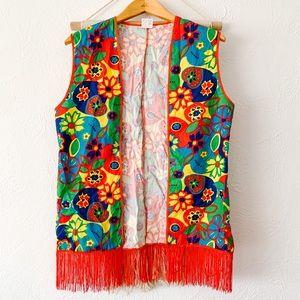 Vintage Hippie Retro Vest Halloween Costume